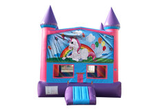 Unicorn Fun Jump with Basketball Goal (Pink)