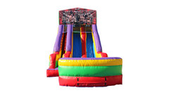 Wrestlers 18' Double Lane Dry Slide