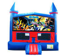 Batman Bounce House with Basketball Goal