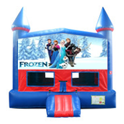 Frozen Bounce House with Basketball Goal
