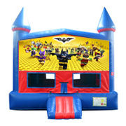 Legos Bat Man Bounce House Jump with Basketball Goal