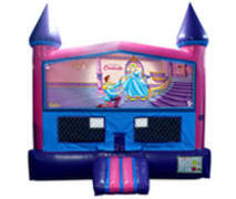 Cinderella Fun Jump (Pink) with Basketball Goal