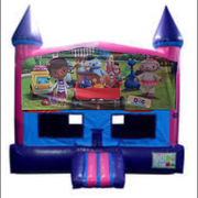 Doc McStuffins Fun Jump (Pink) with Basketball Goal