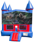 Jurassic World Bounce House with Basketball Goal