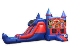 Lilo & Stitch 7' Double Lane Dry Slide Bounce House Combo