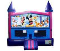 Mickey Mouse Club Bounce House (Pink) with Basketball Goal