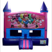 Minnie Mouse Bounce House (Pink) with Basketball Goal
