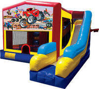 Monster Truck 7N1 Inflatable Combo Fun Jump