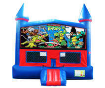 Ninja Turtles Bounce House with Basketball Goal