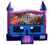Nola Bounce House (Pink) with Basketball Goal