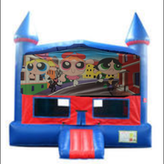 Power Puff Girls Bounce House w/ Basketball Goal