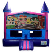 Power Puff Girls Bounce House (Pink) w/ Basketball Goal