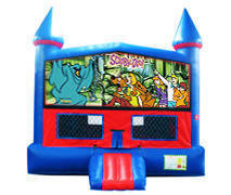 Scooby Doo Bounce House With Basketball Goal