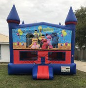 Sesame Street Bounce House With Basketball Goal