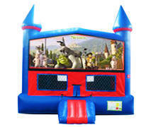 Shrek Bounce House with Basketball Goal