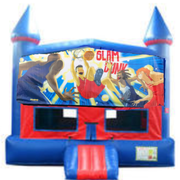 Slam Dunk Bounce House with Basketball Goal