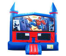 Spider-Man Bounce House with Basketball Goal