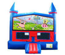 Spongbob  Bounce House with Basketball Goal