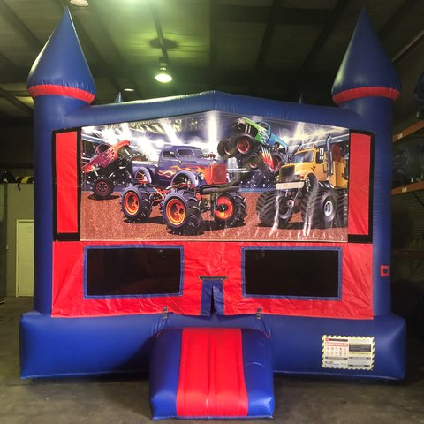 Monster Rigs Bounce House With Basketball Goal