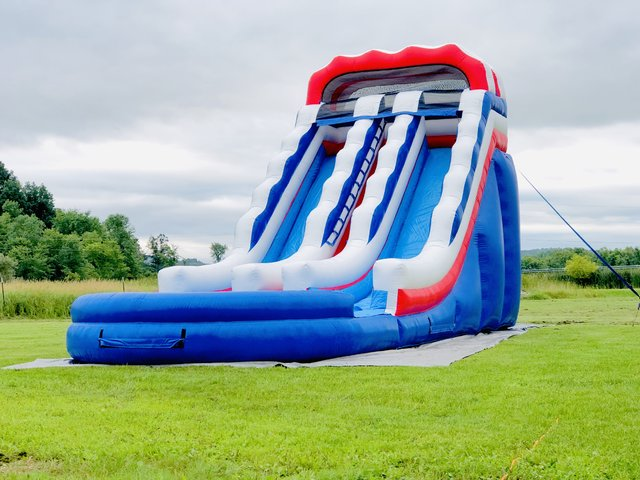 20ft All American Dual Lane Water Slide
