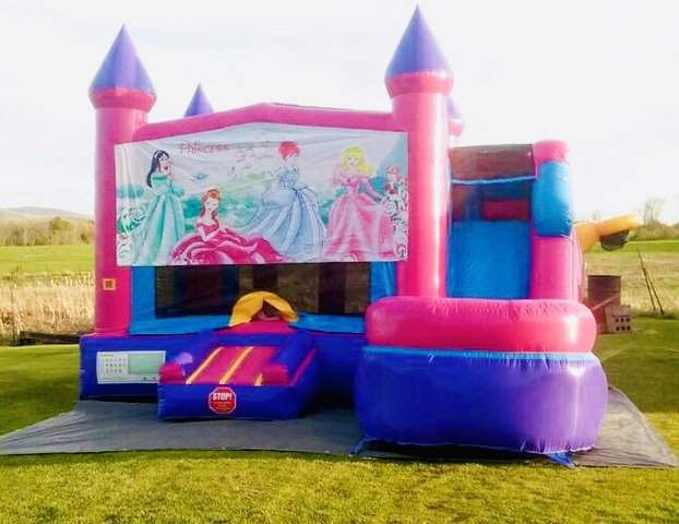 Princess Castlel 5 in 1 Bounce House Combo (WET)