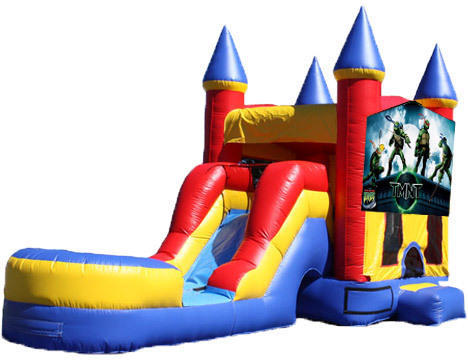5-in-1 Castle Combo with Slide - Teenage Mutant Ninja Turtles (Dry)