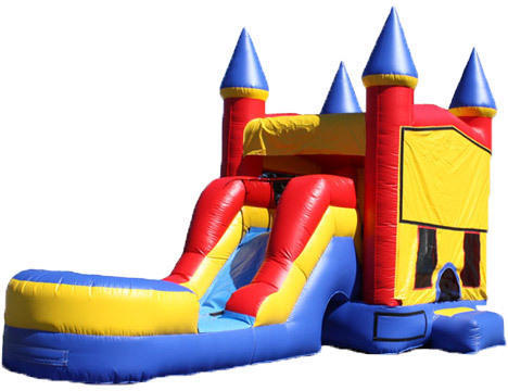 5-in-1 Castle Combo with Slide (Wet)