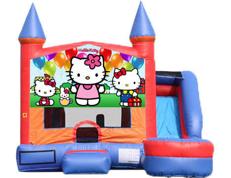 6-in-1 Castle Combo with Slide - Hello Kitty (Dry)
