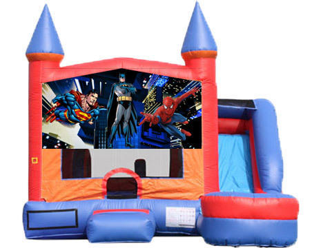 6-in-1 Castle Combo with Slide - Superheroes (Dry)
