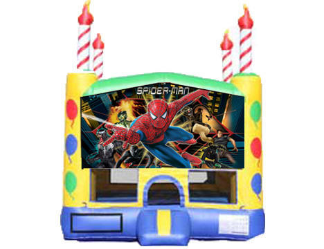 Candle Bounce House - Spiderman