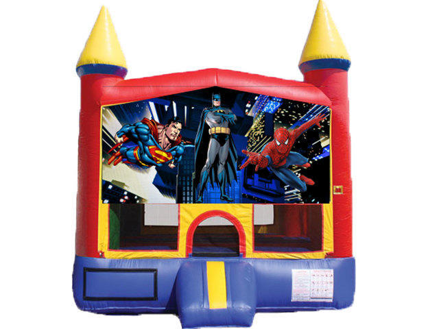 Mini Castle Bounce House - Superheroes