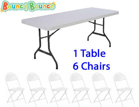 Package: 1 Table & 6 Chairs