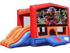 4-in-1 Combo with Double Slides - Race Cars (Dry)