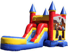 5-in-1 Castle Combo with Slide (Wet) - Cars