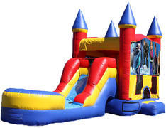 5-in-1 Castle Combo with Slide (Wet) - Frozen