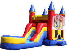 5-in-1 Castle Combo with Slide (Wet) - Princesses