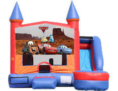 6-in-1 Castle Combo with Slide (Wet) - Cars