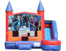 6-in-1 Castle Combo with Slide (Wet) - Frozen