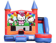 6-in-1 Castle Combo with Slide (Wet) - Hello Kitty
