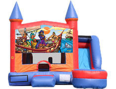 6-in-1 Castle Combo with Slide (Wet) - Pirates