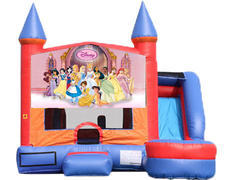 6-in-1 Castle Combo with Slide (Wet) - Princesses