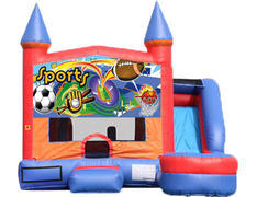 6-in-1 Castle Combo with Slide (Wet) - Sports