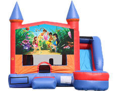 6-in-1 Castle Combo with Slide (Wet) - Tinker Bell