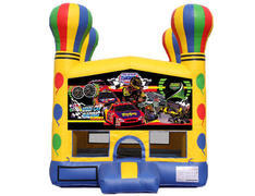 Balloon Bounce House - Race Cars