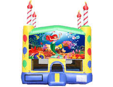 Candle Bounce House - Little Mermaid
