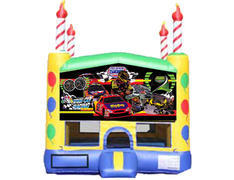 Candle Bounce House - Race Cars