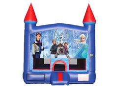 Blue & Red Castle Bounce House - Frozen 2