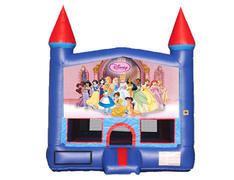 Blue & Red Castle Bounce House - Princesses