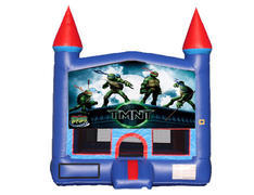 Blue & Red Castle Bounce House - Teenage Mutant Ninja Turtles