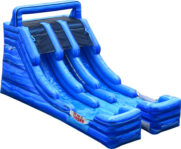 15' Double Lane Blue Marble Waterslide